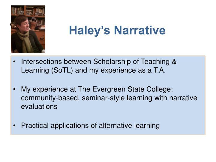 Haley's Narrative