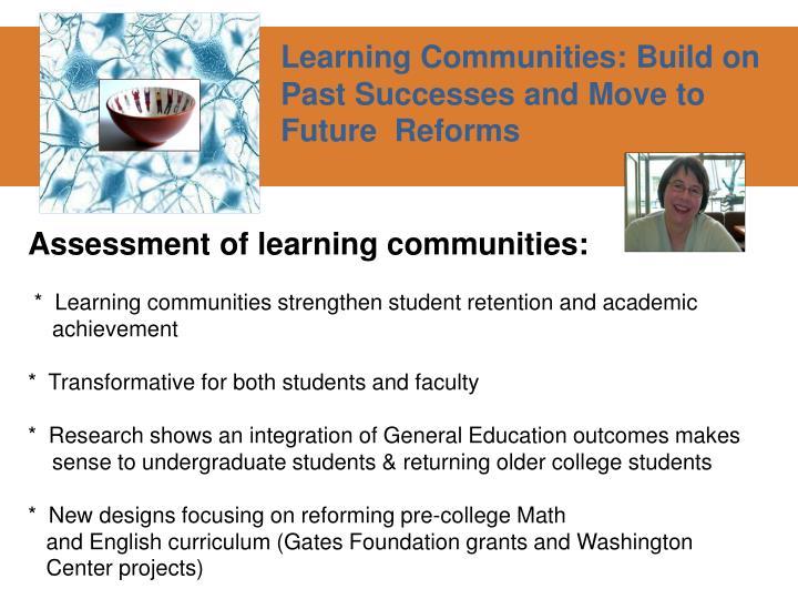Assessment of learning communities:
