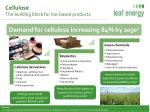 cellulose the building block for bio based products