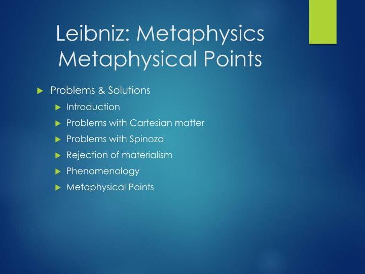 Leibniz: Metaphysics