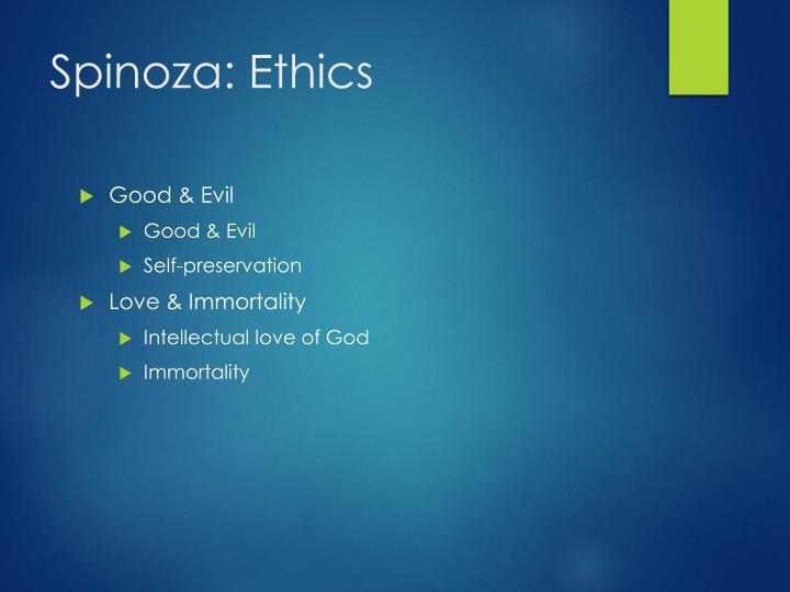 Spinoza: Ethics