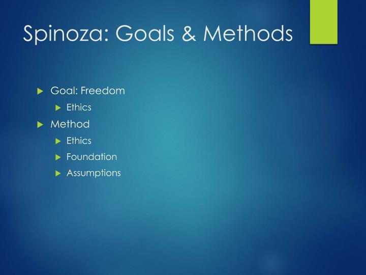 Spinoza goals methods