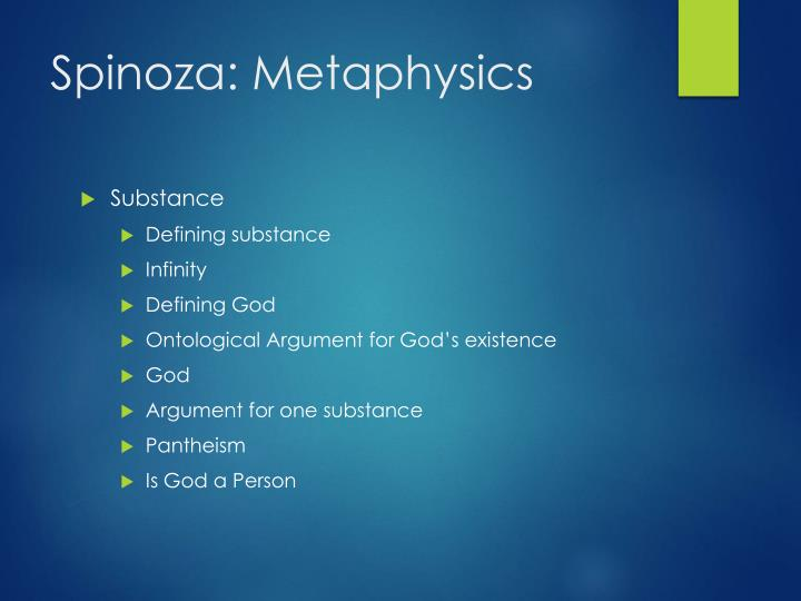 Spinoza: Metaphysics