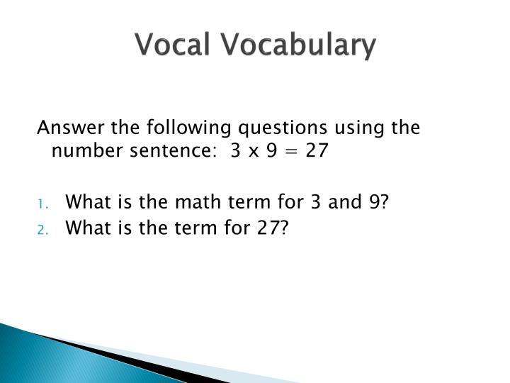 Vocal Vocabulary