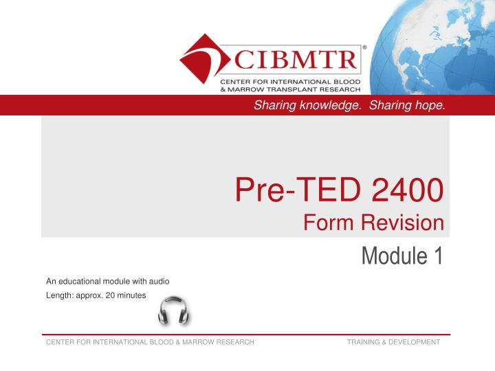 pre ted 2400 form revision n.