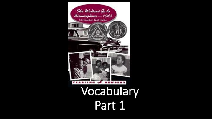 vocabulary part 1 n.