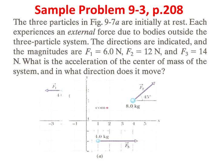 Sample Problem 9-3, p.208