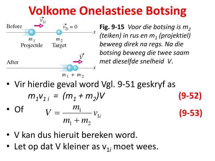 Volkome Onelastiese Botsing