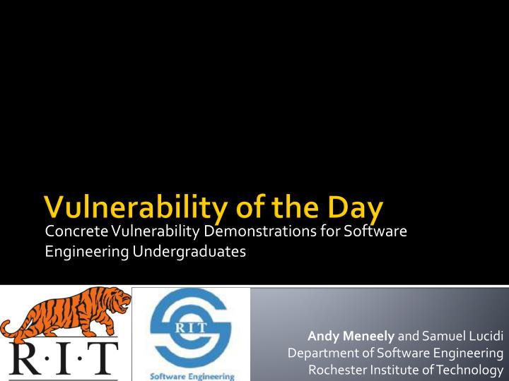 concrete vulnerability demonstrations for software engineering undergraduates n.