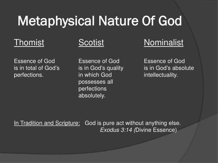 metaphysics and nominalism