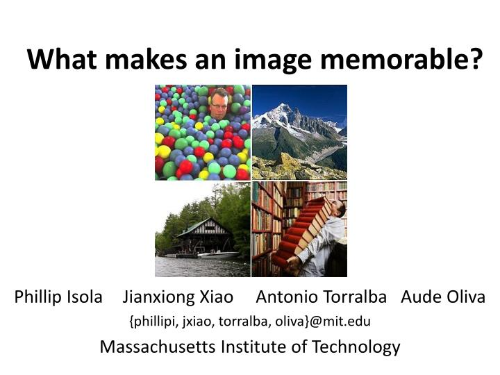 what makes an image memorable n.