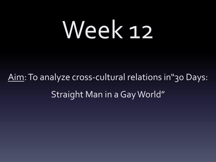 Straight man in a gay world 30 days