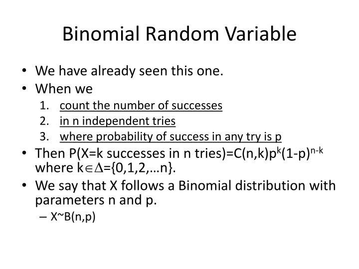 Binomial Random Variable