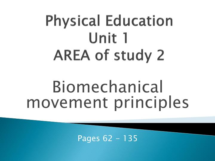 physical education unit 1 area of study 2 n.