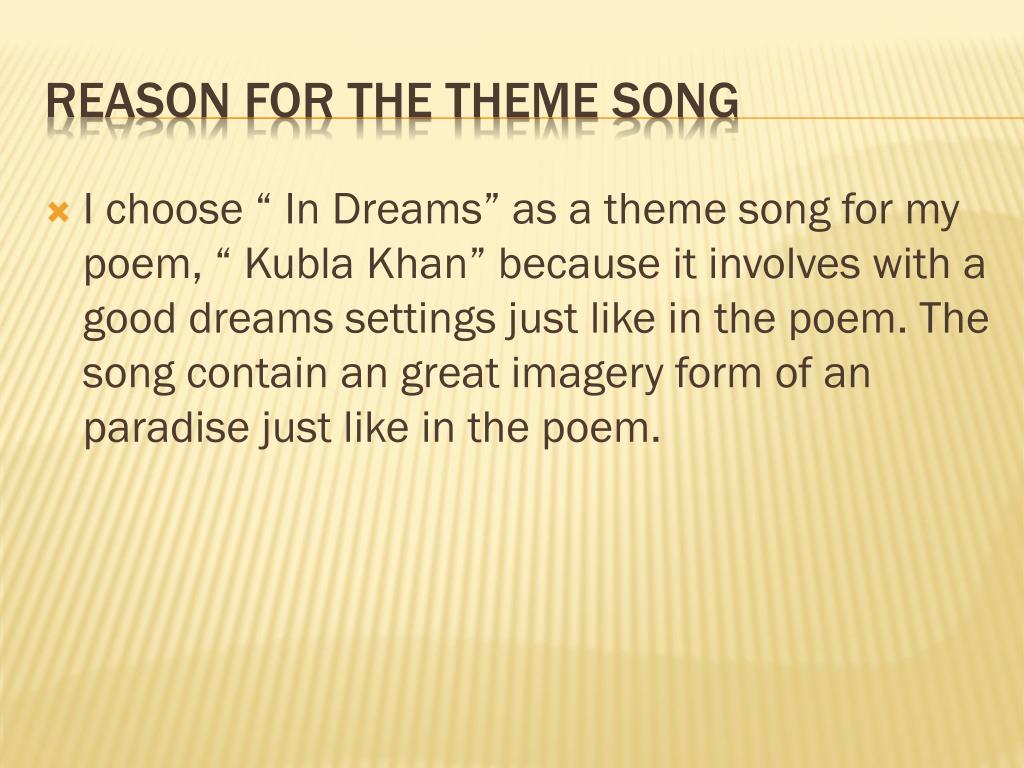 Ppt Kubla Khan Author Samuel Taylor Coleridge Powerpoint Presentation Id 2011781 Theme