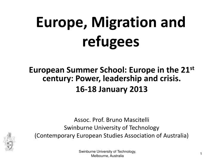 europe migration and refugees n.