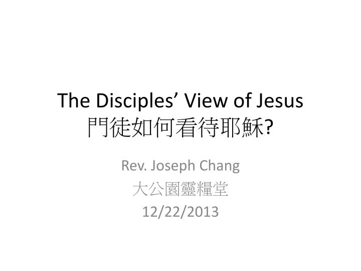 the disciples view of jesus n.