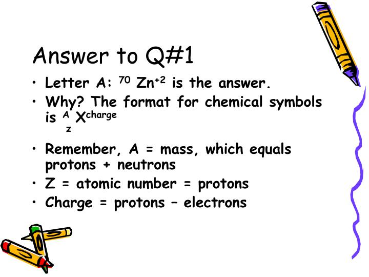 Answer to q 1
