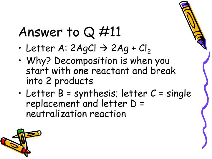 Answer to Q #11