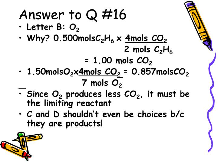 Answer to Q #16