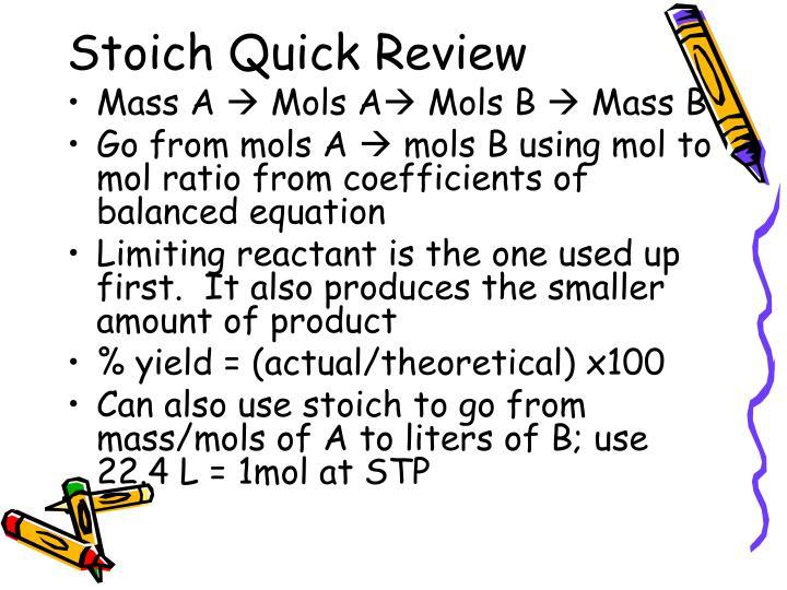 Stoich Quick Review