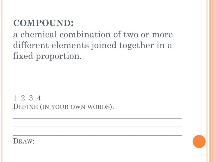 compound: