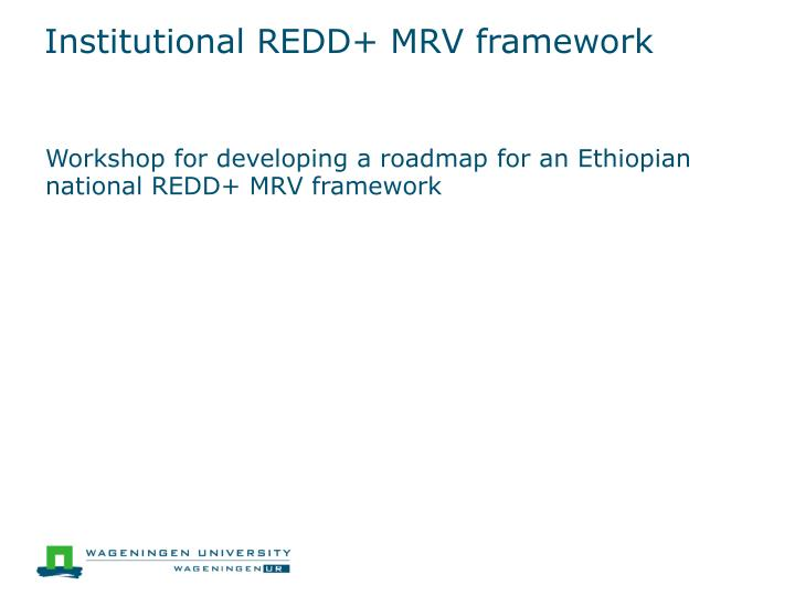 institutional redd mrv framework n.