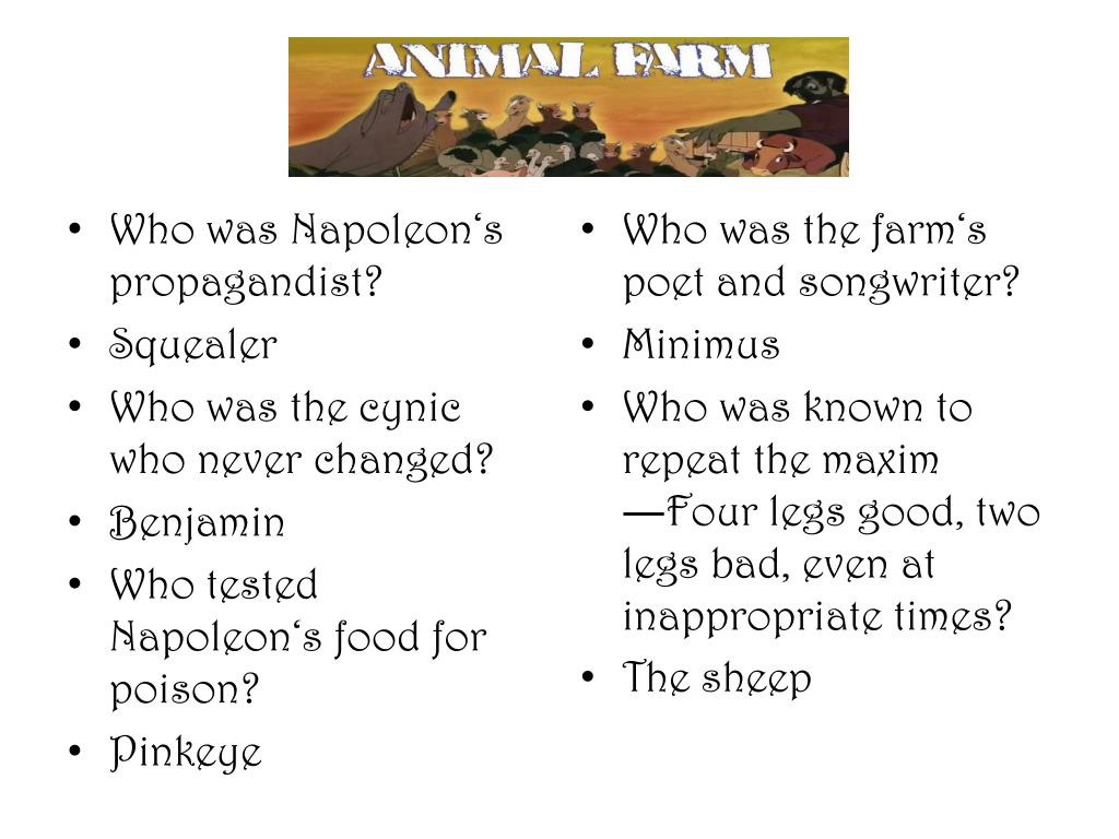 PPT - Animal Farm PowerPoint Presentation - ID:2012178