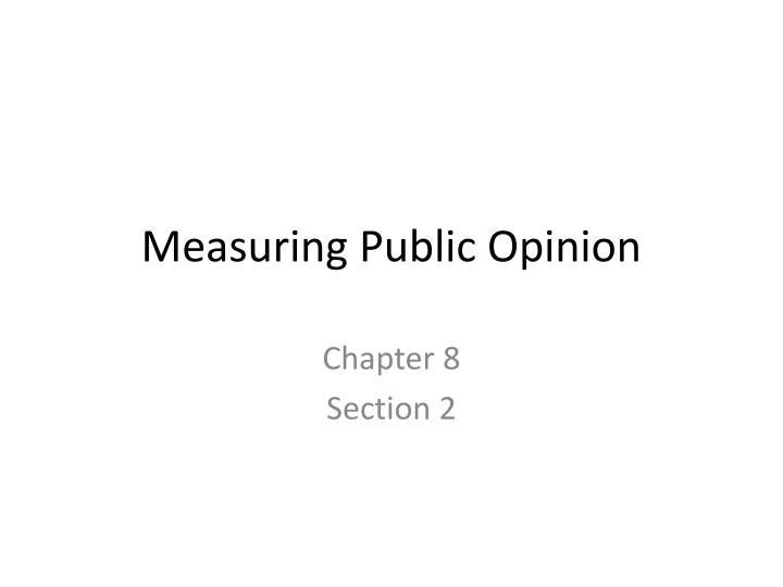 measuring public opinion n.
