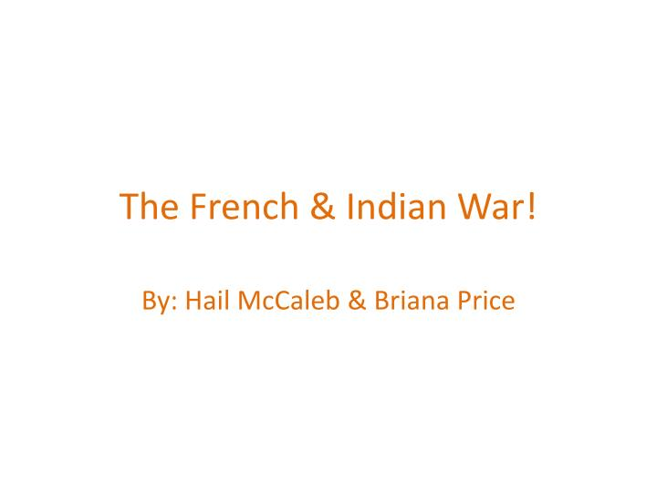 the french indian war n.