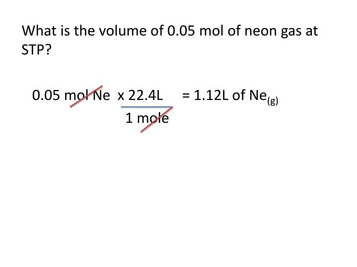 What is the volume of 0.05