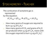 stoichiometry teacher