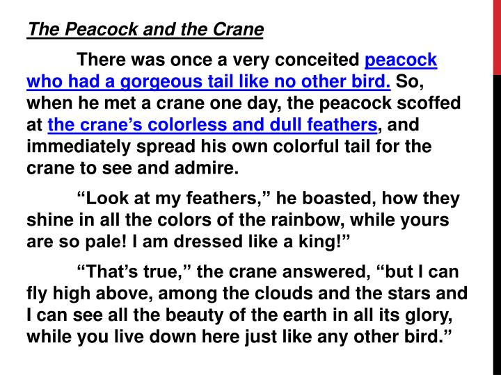 The Peacock and the