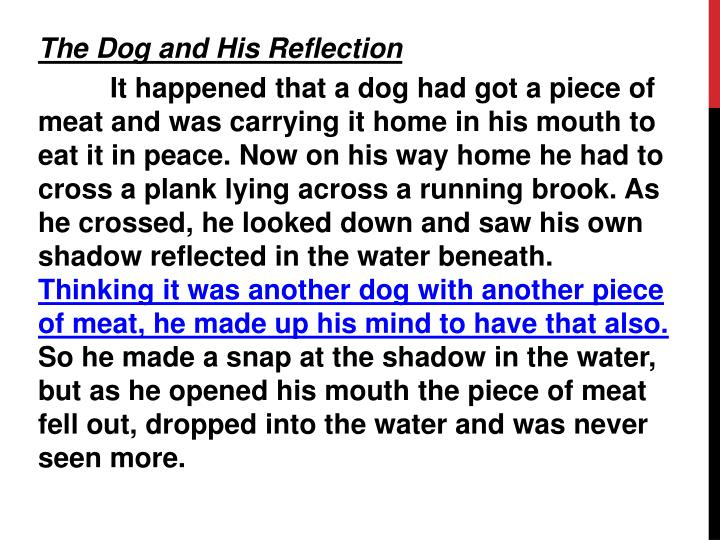 The Dog and His Reflection