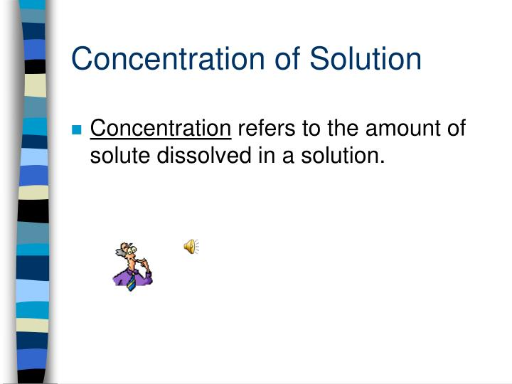 concentration of solution n.