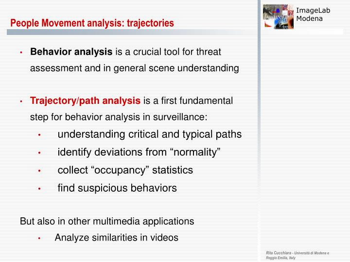 people movement analysis trajectories n.