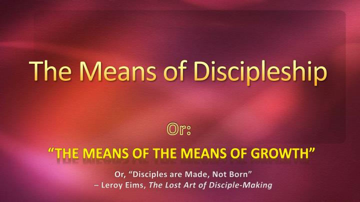 the meaning of discipleship essay As the apostles two thousand years ago showed the qualities of discipleship so do the people of today many people today still answer the call of god.