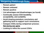 wargaming walkthrough rules