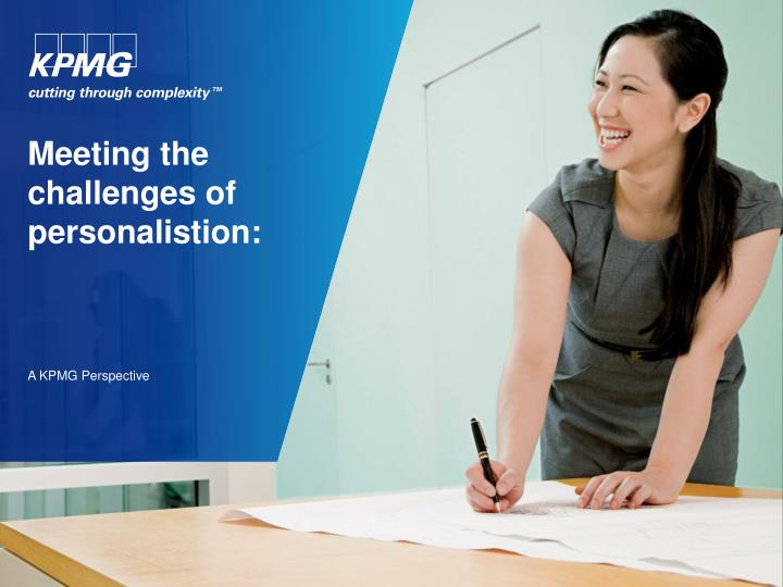 meeting the challenges of personalistion n.