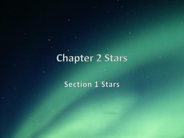 chapter 2 stars n.