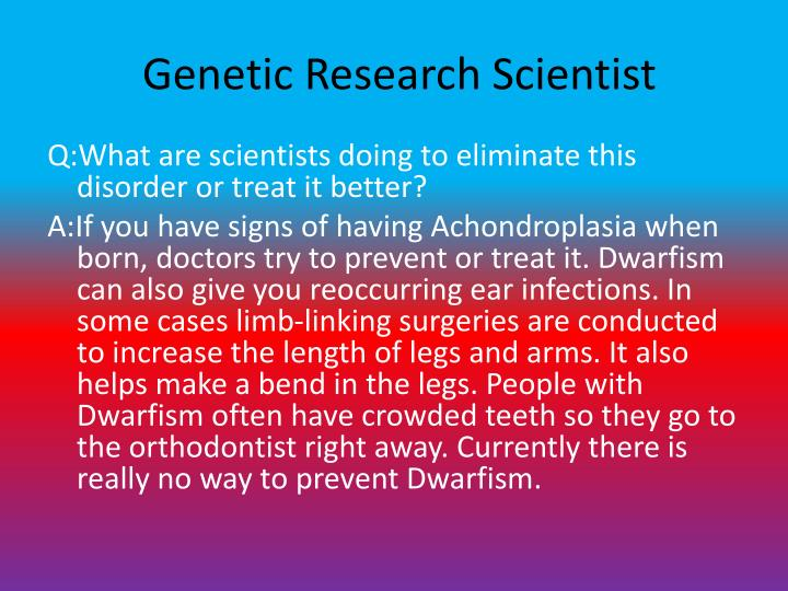 Genetic Research Scientist