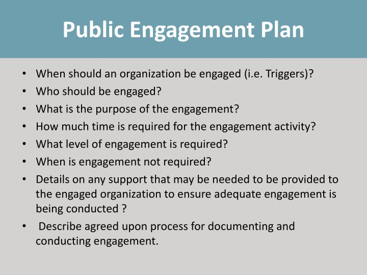 Public Engagement Plan