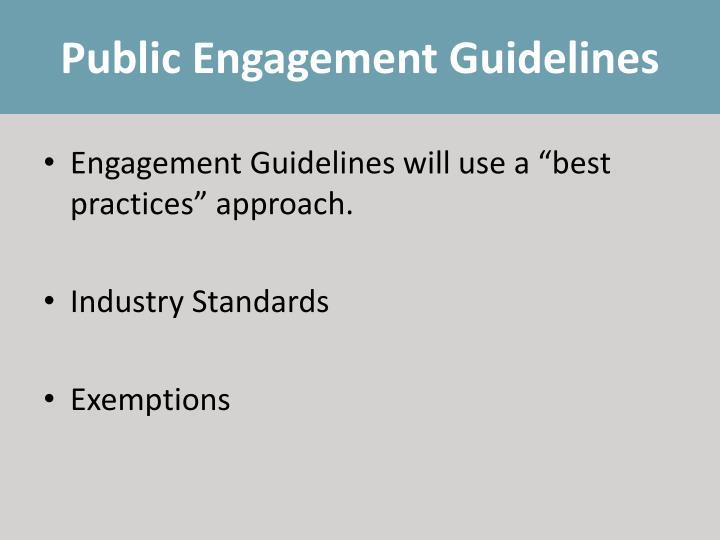 Public Engagement Guidelines