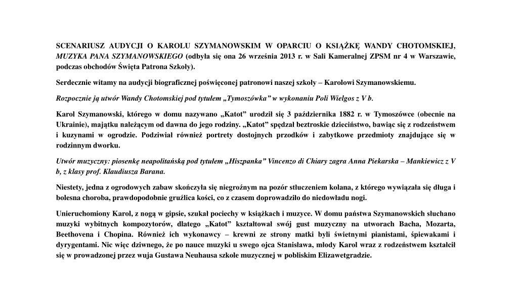 """Niesamowite PPT - Usłyszymy wiersz Wandy Chotomskiej pt. """"Fortepian"""" w FR24"""