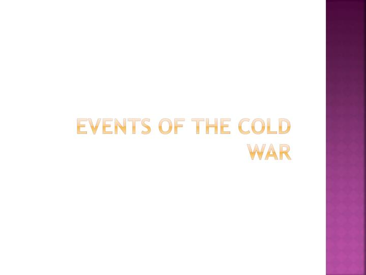 events of the cold war n.