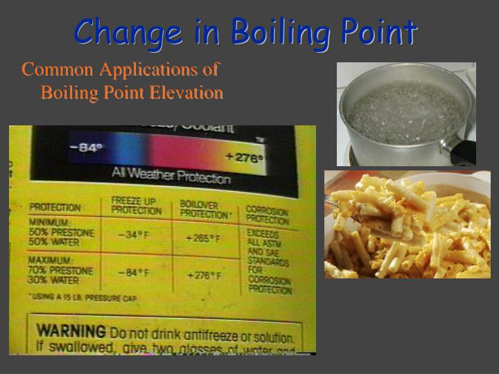 Change in Boiling Point