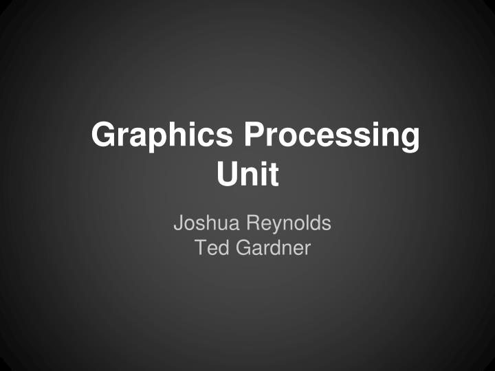 graphics processing unit n.
