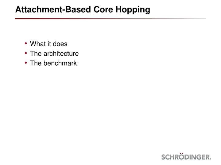 Attachment based core hopping