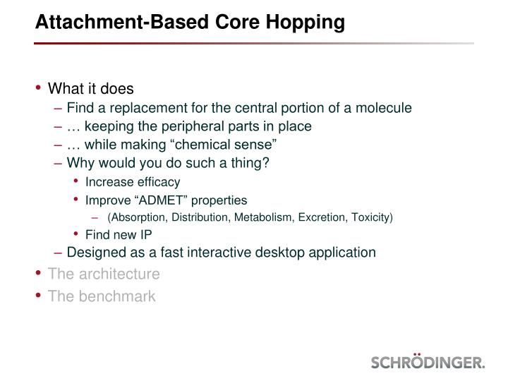 Attachment based core hopping1