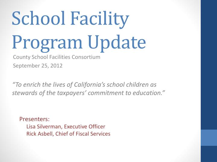 school facility program update n.